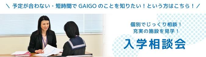 予定が合わない・短時間でGAIGOのことを知りたい!という方はこちら! 入学相談会